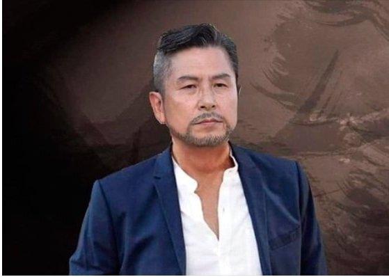 황교안 자유한국당 대표의 삭발 사진을 재가공한 '투 블럭' 사진 게시물 [온라인 캡쳐]