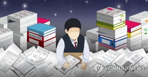 청소년 공부시간 과다 (PG) [정연주 제작] 일러스트