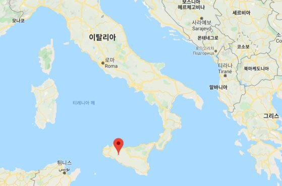 이탈리아 남부 시실리섬 비보나 지역. [구글 캡쳐]