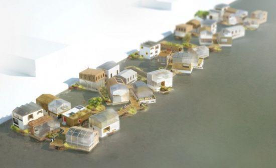 네덜란드의 수상가옥단지 계획도. 이런 수상가옥의 규모가 대형 삼각 플로팅 속에 만들어져 떠 있다면 어떨까요? 해수면 상승에 대비한 부유식 인공섬이 미래의 주거지가 될 수 있을까요? [사진='Schoonschip 프로젝트' 홈페이지]