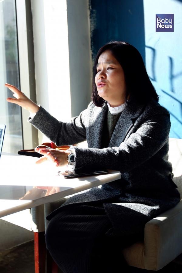 김미영 대표는 20일 베이비뉴스와의 인터뷰에서 '1형당뇨 아동 보육 어린이집 대상 장려책 마련'을 강조했다. 서종민 기자 ⓒ베이비뉴스