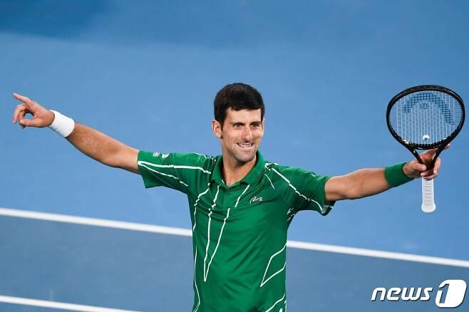 2020 호주오픈 남자 단식 우승자 노박 조코비치. © AFP=뉴스1