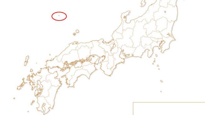 2020도쿄올림픽·패럴림픽 조직위원회 공식 사이트의 성화 봉송 경로 지도에 표시된 독도(붉은색 원) (사진=2020도쿄올림픽·패럴림픽 조직위원회 사이트 캡처)