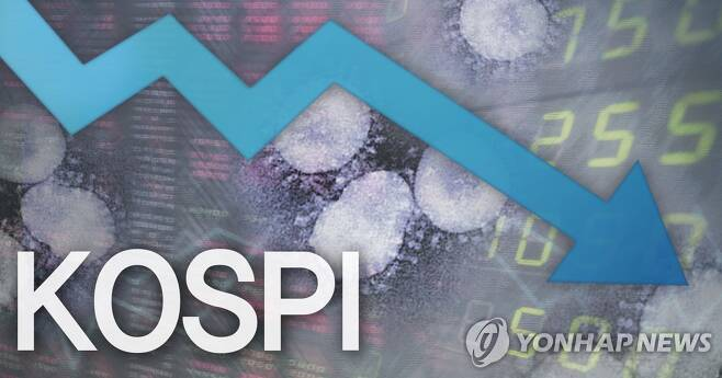 코스피, 4.9% 급락…1,600선 붕괴 마감 (PG) [정연주 제작] 일러스트