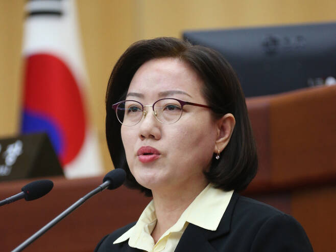 최영심 도의원.