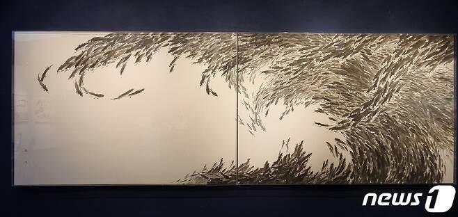 어락도(魚樂圖), 4020 x 1380mm © 뉴스1
