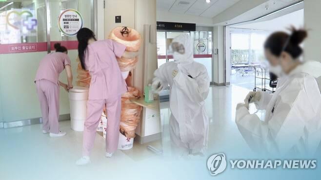 """""""환자 회복을 위해""""…병실서 고군분투 간호사들(CG) [연합뉴스TV 제공]"""