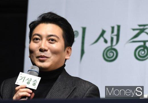 영화 '기생충'에 출연했던 배우 박명훈이 부친상을 당했다. /사진=장동규 기자