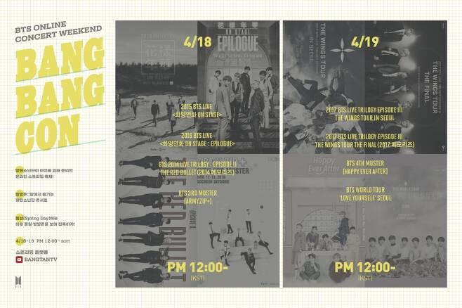 BTS가 지난 4월18~19일 이틀간 연 '방방콘'은 언택트 콘서트의 가능성을 보여줬다. ⓒ BTS 트위터