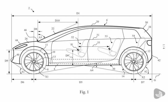 다이슨의 전기자동차 관련 특허 도면