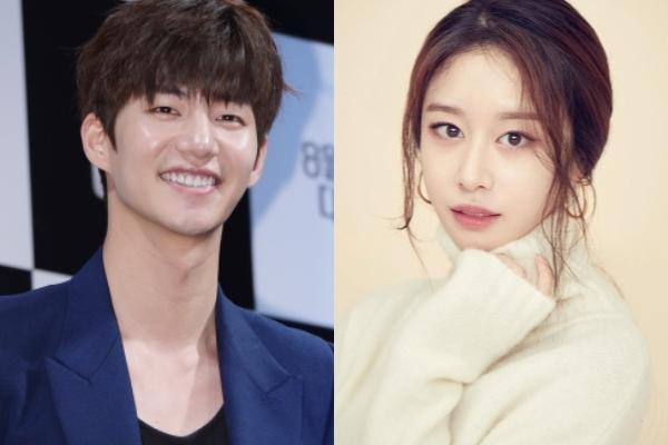 배우 송재림(좌), 티아라 출신 배우 지연(우). 스포츠경향 DB, 인스타그램