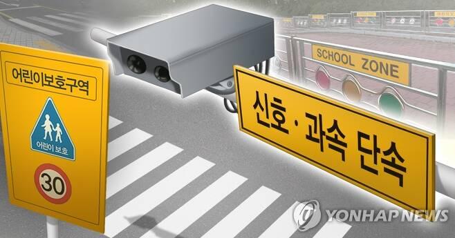 스쿨존 과속단속 카메라 (PG) [권도윤 제작] 사진합성·일러스트
