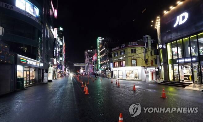 텅 빈 홍대 앞 거리 [연합뉴스 자료사진]