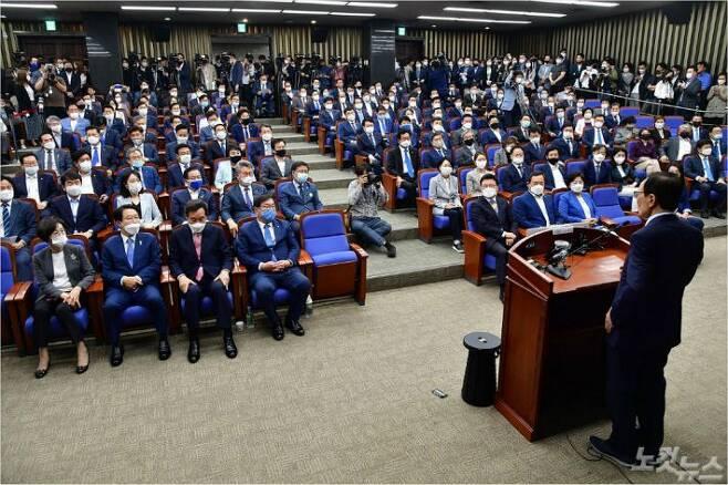 더불어민주당 의원총회 모습(사진=윤창원 기자/자료사진)