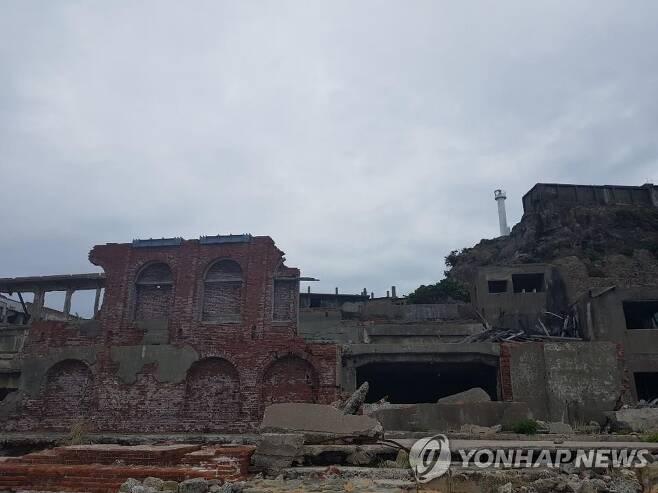 일본 군함도 내부 [연합뉴스 자료사진. 촬영 성서호]