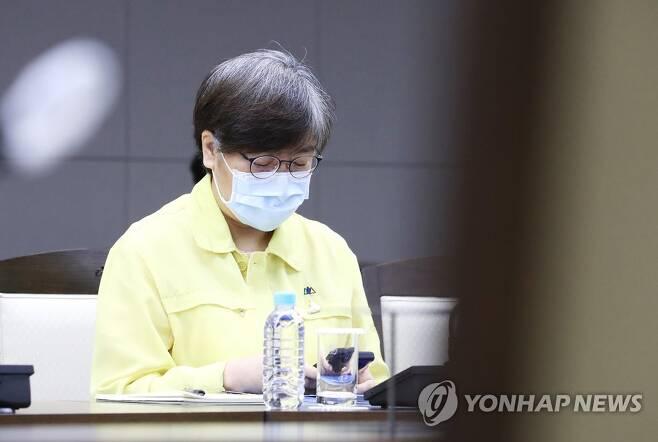 중대본 회의 참석한 정은경 본부장 [연합뉴스 자료 사진]