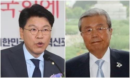 장제원 미래통합당 의원(왼쪽)과 김종인 당 비상대책위원장. 연합뉴스