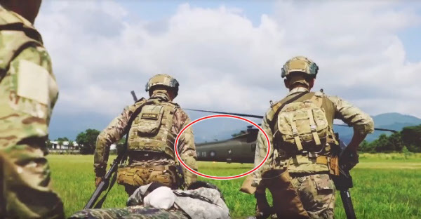 대만군 블랙호크 핼리콥터./미군 제1특전단 페이스북 캡처