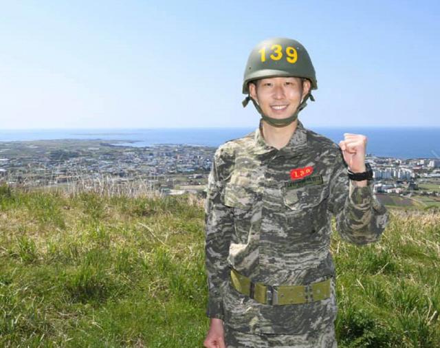 손흥민의 해병대 군생활 모습  사진출처=해병대 공식 SNS