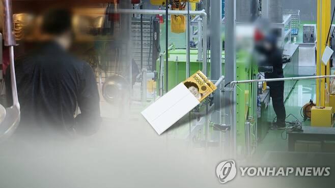 상반기 중소 제조업 생산직 근로자 일급 9만5천837원…1.3% 증가 (CG) [연합뉴스TV 제공]