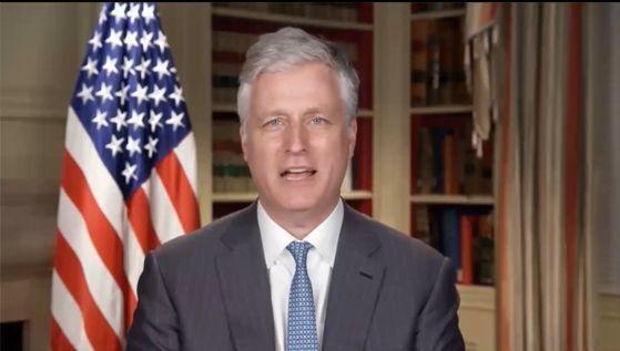 로버트 오브라이언 미국 국가안보보좌관이 6월 30일 워싱턴 싱크탱크 국가이익센터가 주최한