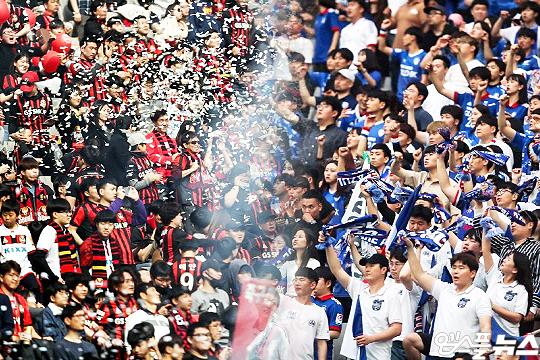 7월 4일 통산 99번째 슈퍼매치가 수원월드컵경기장에서 열린다. 올 시즌 첫 슈퍼매치다(사진=엠스플뉴스, 한국프로축구연맹)