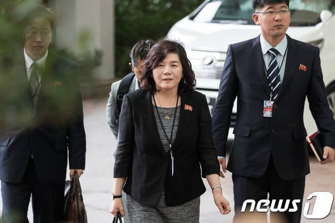 최선희 북한 외무성 제1부상./뉴스1 © News1 유승관 기자