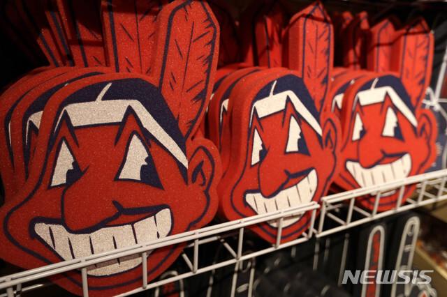 [클리블랜드=AP/뉴시스] 메이저리그(MLB) 클리블랜드 인디언스의 로고였던 와후 추장. 2018.01.29