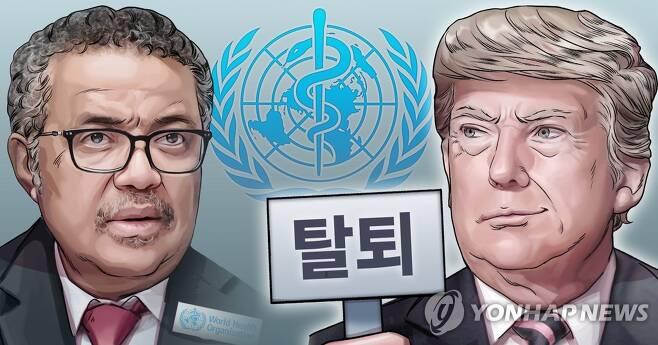 미국, 세계보건기구(WHO) 탈퇴 선언 (PG) [장현경 제작] 일러스트