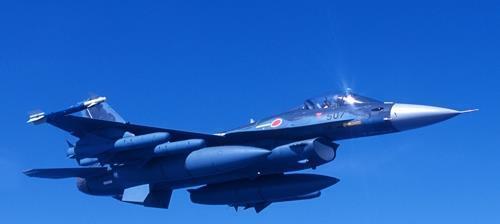 일본 항공자위대 F2 전투기. [연합뉴스 자료사진, 재판매 및 DB 금지]