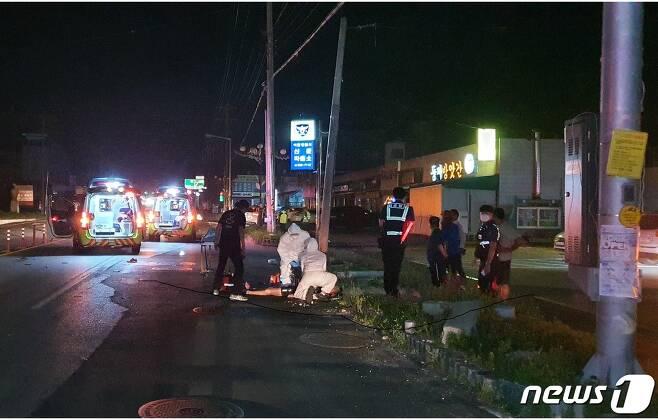 사고 당시 모습.(경기도소방재난본부 제공)© 뉴스1