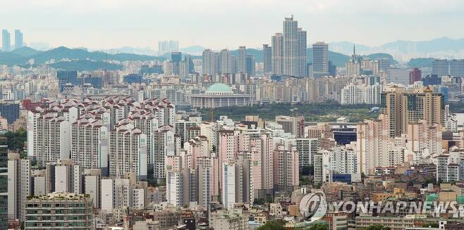 서울 마포와 여의도 일대 아파트 단지 모습 [연합뉴스 자료사진]