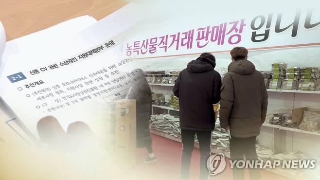 힘모아 살린다…지자체 신종코로나 극복 안간힘 (CG) [연합뉴스TV 제공]