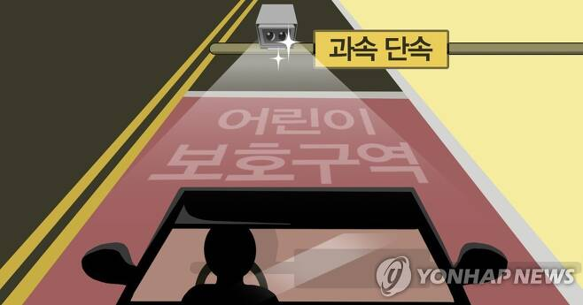 어린이 보호구역(스쿨존) 과속단속 카메라 (PG) [권도윤 제작] 일러스트