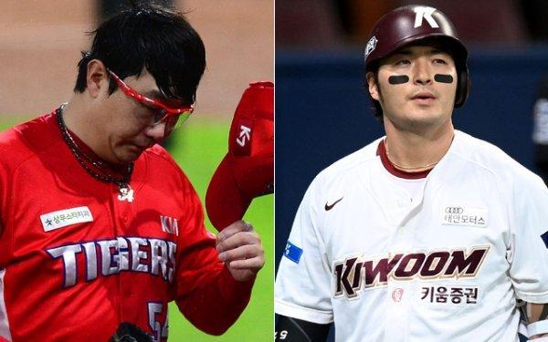 KIA 양현종(왼쪽), 키움 박병호. 스포츠동아DB