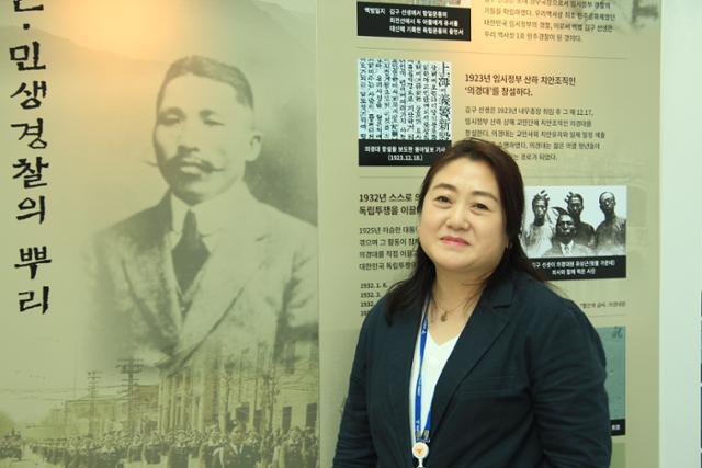 '인천 초등생 살인 사건' 등 전국 주요 사건 프로파일링에 참여한 이진숙 인천경찰청 프로파일러가 지난 8일 인천 남동구 인천경찰청사에서 인터뷰를 하고 있다. 신지후 기자