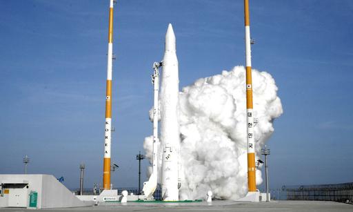 액체 1단 로켓을 이용해 2009년 8월 25일 발사됐던 첫 우주발사체 나로호(KSLV-I)가 나로 우주센터에서 발사되는 모습. 세계일보 자료사진
