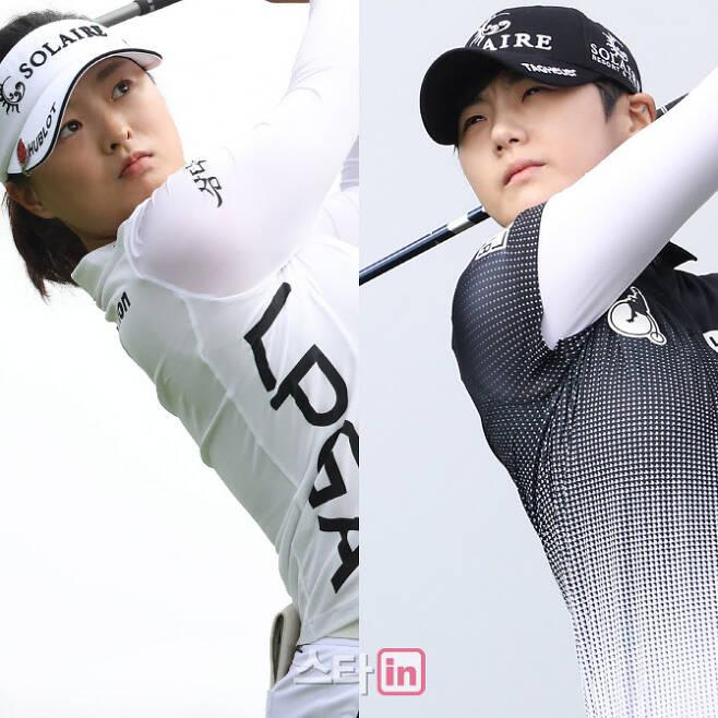 여자골프 세계랭킹 1위 고진영(왼쪽)과 3위 박성현. (사진=이데일리DB)