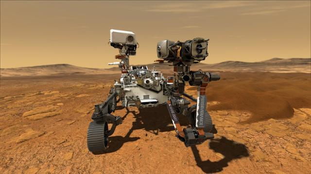 미국 항공우주국(NASA)이 30일 발사를 예고한 화성탐사 로버 '퍼시비어런스'. 2021년 2월 화성에 착륙해 흙이나 암석을 채취하는 임무를 띠고 있다. NASA 제공