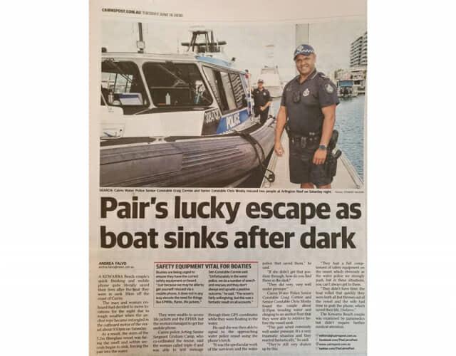 당시 제시카 부부의 사고를 다룬 현지 신문 기사. (사진=삼성전자)