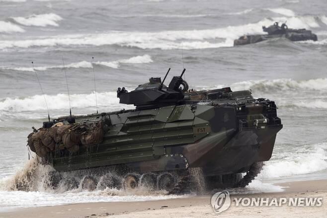 미국 해병대 상륙돌격 장갑차 [AP=연합뉴스 자료사진]