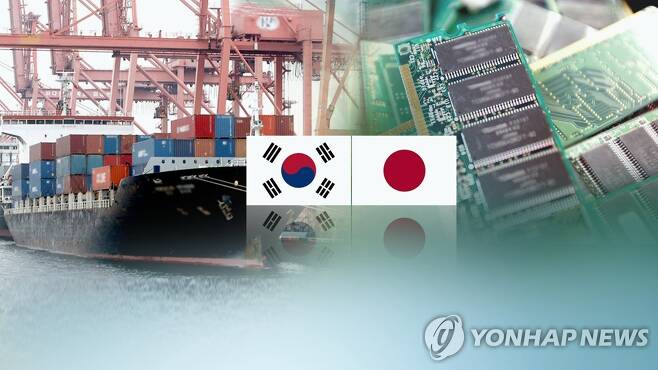 일본 수출규제 (CG) [연합뉴스 자료사진]