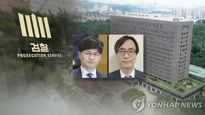 한동훈·수사팀장 몸싸움 (CG) [연합뉴스TV 제공]