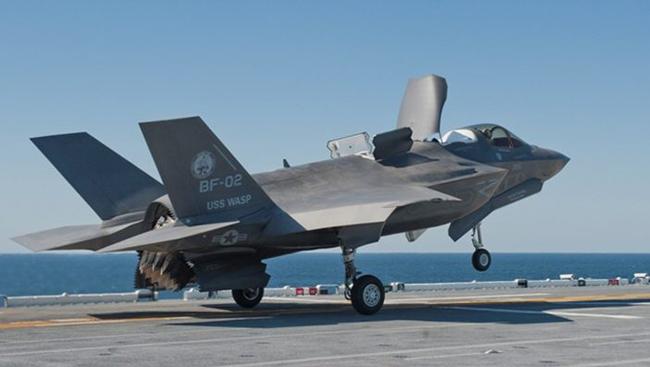 미 해병대용으로 개발된 수직 이착륙기 버전인 F-35B. [동아db]