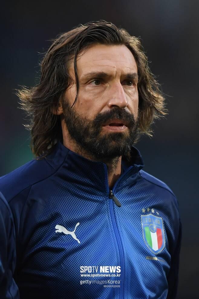 ▲ 이탈리아 감독 시절 안드레아 피를로. 20-21시즌 유벤투스 지휘봉을 잡는다.