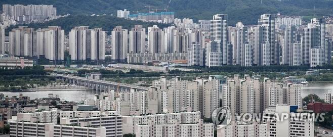 서울 용산구와 서초구 일대 아파트 단지 [연합뉴스 자료사진]