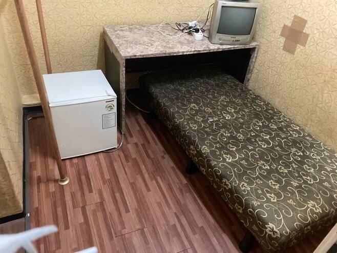 오전 11시쯤 용산구 숙명여대역 인근 A고시원 방.© 뉴스1원태성 기자