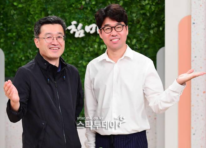 `아침마당` 연종우(왼쪽), 강지원 PD가 시청자들의 동반자가 되겠다고 말했다. 사진|강영국 기자