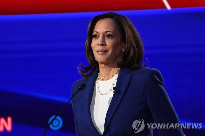 미국 민주당 부통령 후보로 지명된 카멀라 해리스 상원의원 (Photo by SAUL LOEB / AFP)