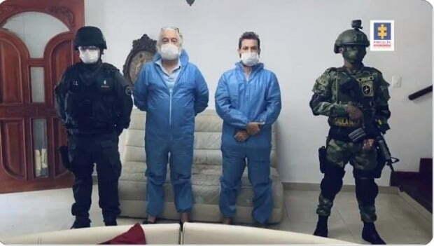 표백제 성분으로 만든 용액을 '기적의 만병통치약'으로 속여 판 미국인 부자가 콜롬비아에서 붙잡혔다./사진=콜롬비아 검찰 트위터 영상 캡처